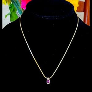 5/$25...1970s New Old Amway Purple Stone Necklace